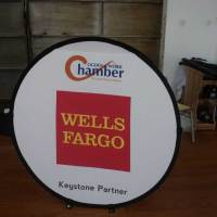 Round Fabric Pop Banners