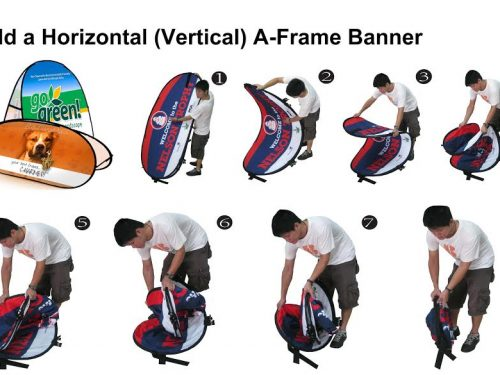 Oval Pop up fabric banner instructions