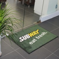 Printed door floor logo mats