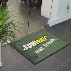 Printed door floor logo mats