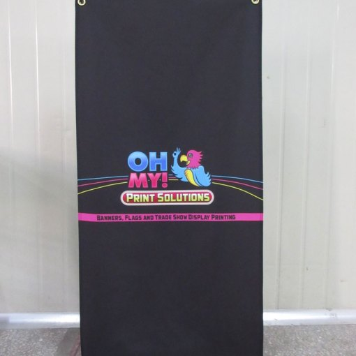 X frame backpack style banner