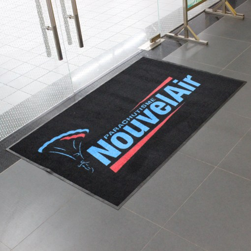 Printed logo mats