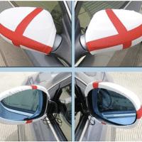 Printed car mirror covers