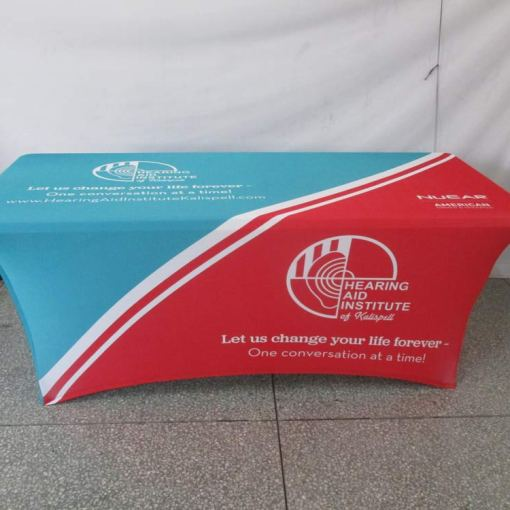 Custom Spandex Table Cover with Logo