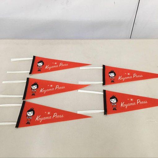 Felt pennant Flags with ties