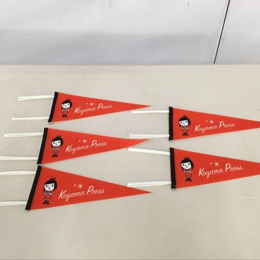 Felt pennant Flags with ties