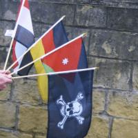 Printed handheld flags