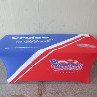 Custom printed table covers with logo