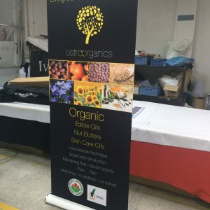 high end banner stand