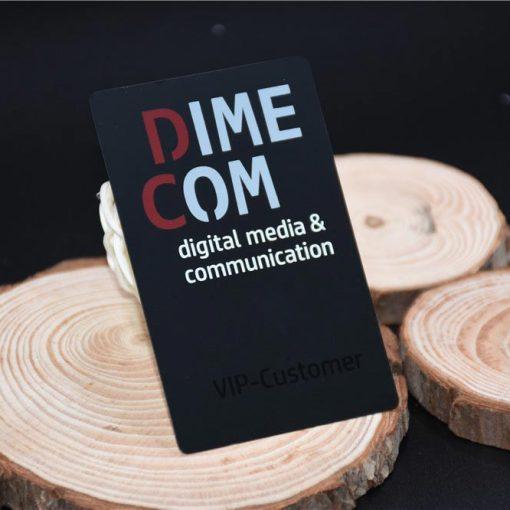 Metal Business Card Black Matte