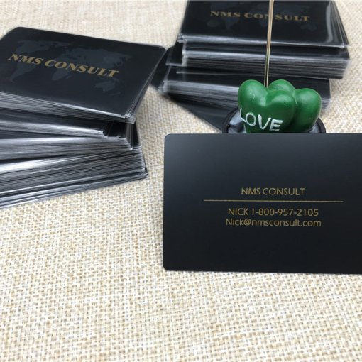 Black Matte Metal Cards with Etching