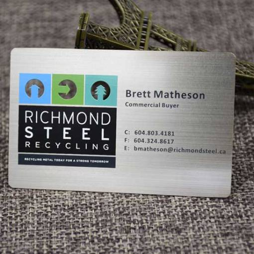 Metal Business Cards Vancouver Canada