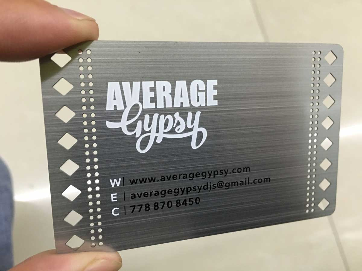 steel business cards