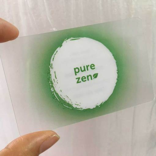 Gloss Transparent Business Cards