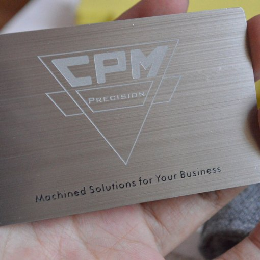 Etched Metal Cards