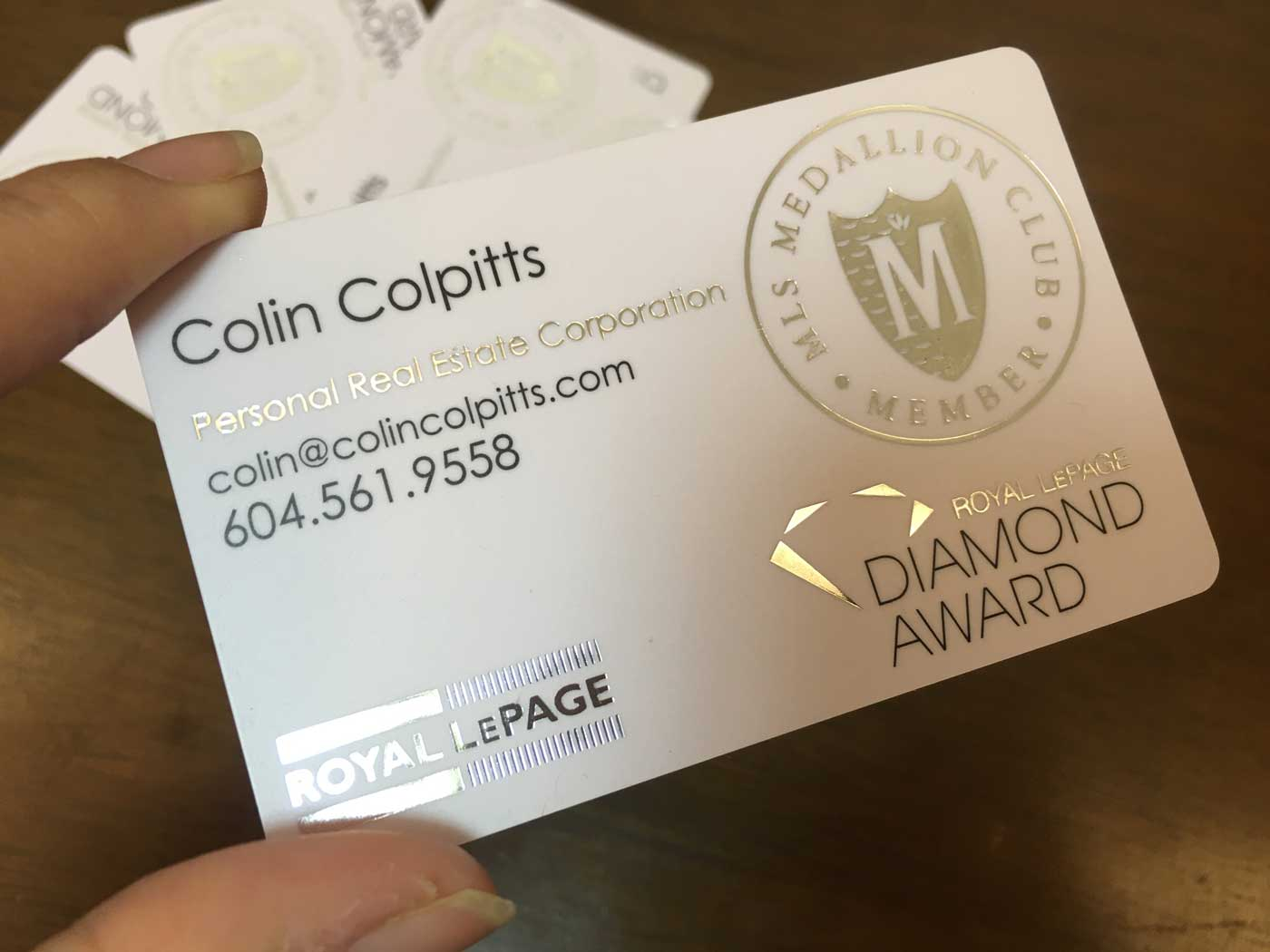 Gold-Foil-PVC-Business-Cards - Oh my Print Solutions