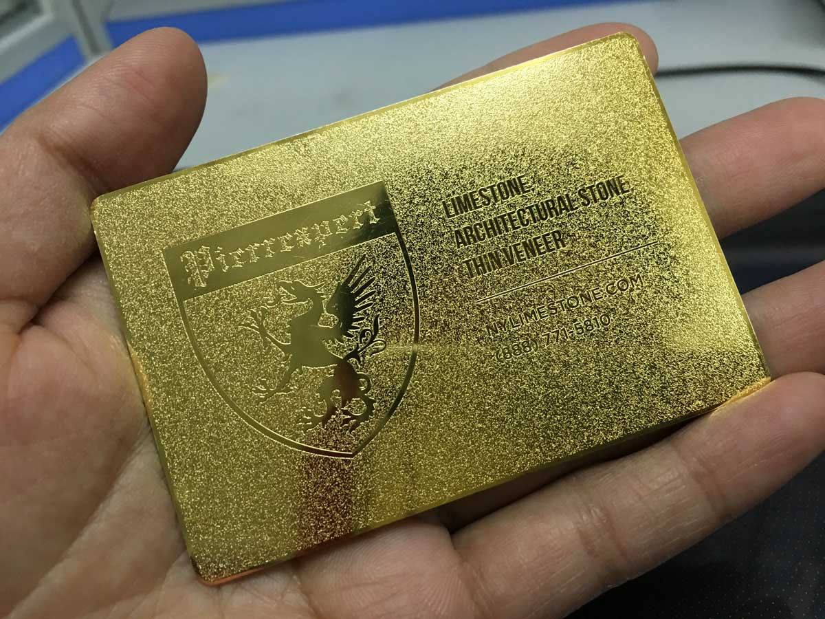 Gold-Metal-Business-Cards-Frosted - Oh my Print Solutions