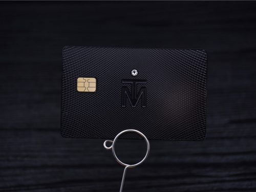 Luxury Business Card with Diamonds