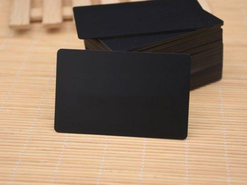 Black Edge Black Plastic Cards
