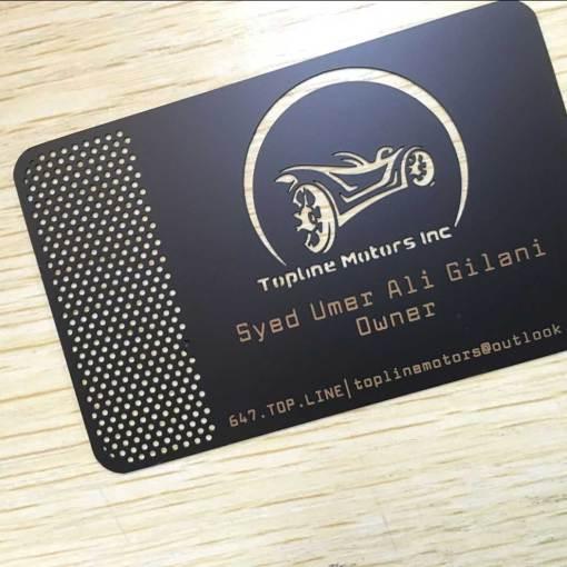 Toronto Matte Black Metal Cards
