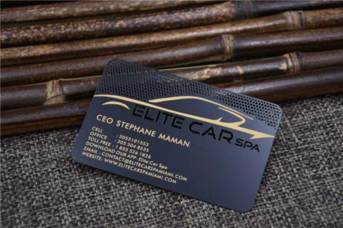Matte Black Metal Cards with Cut out