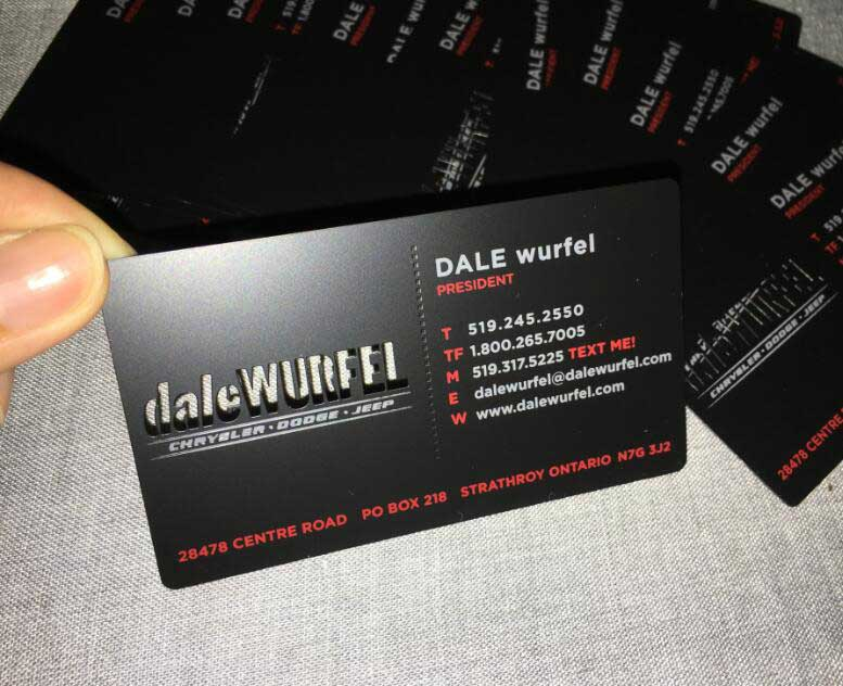 Matte Black Metal Business Cards