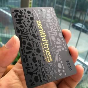 Matte Black Plastic Card with Spot UV