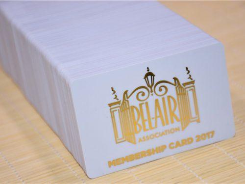 Gold Foil Membership Card