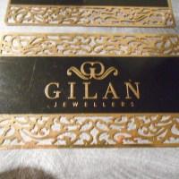 Gold Metal Die cut cards