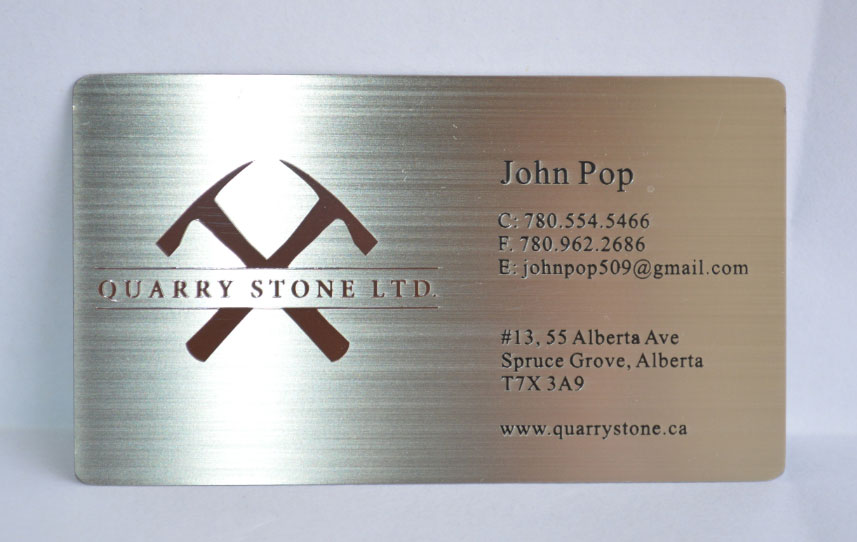 Metal business cards silver gold black free shipping worldwide metal business cards brushed reheart Gallery
