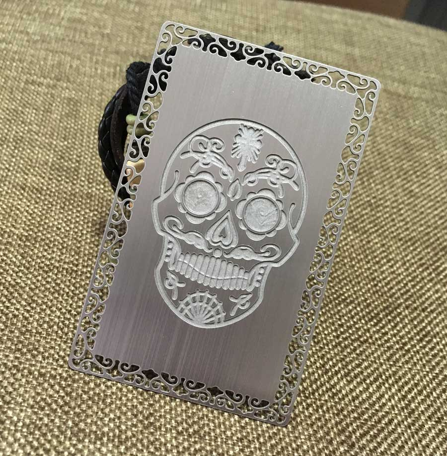 Metal business cards silver gold black free shipping worldwide deep etched metal cards magicingreecefo Choice Image