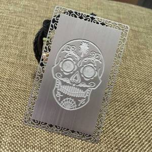Deep Etched Metal Cards