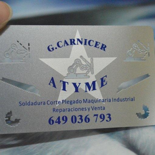Printed steel cards