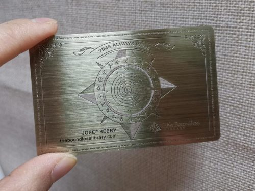 Bronze Metal Cards