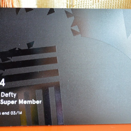 Metal business card black with overlay