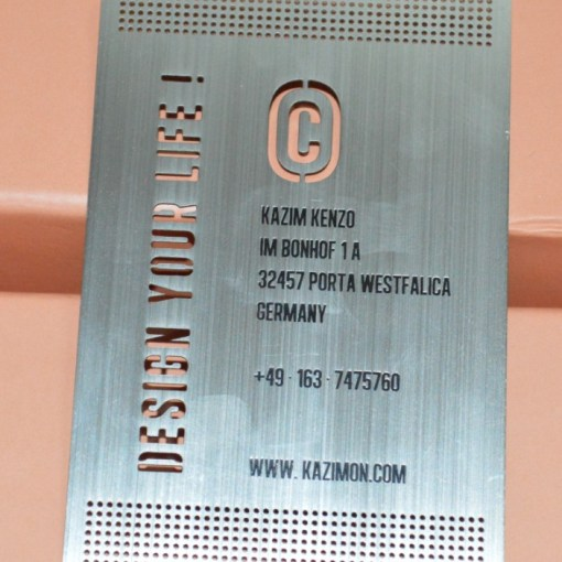 Premium metal high end business cards