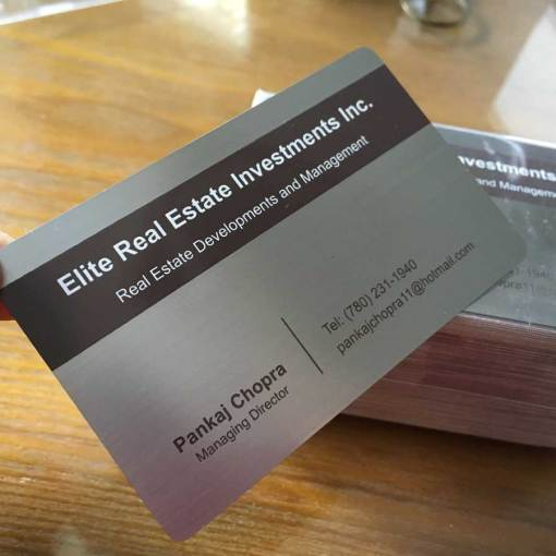 Metal Business Cards Canada