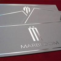 Silver foil PVC cards