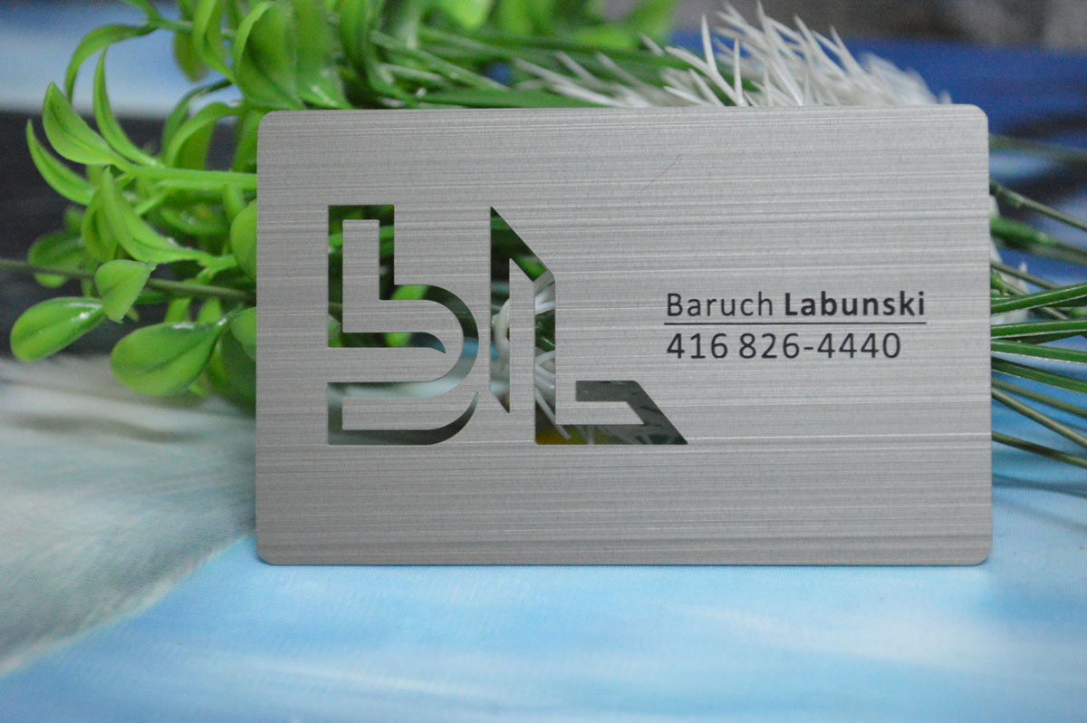 Metal Business Cards - Silver - Gold - Black - Free Shipping Worldwide