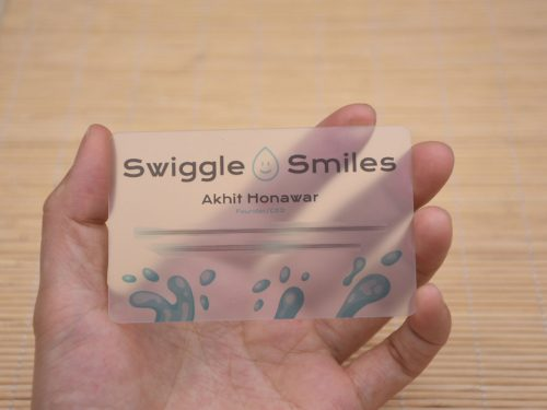 Clear Business Card with Matte Finish