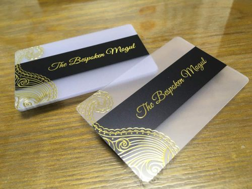 Gold Foil Transparent Cards