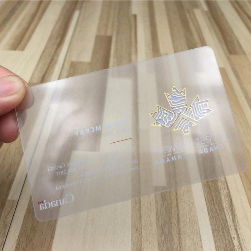 Transparent-Gold-Foil-Cards