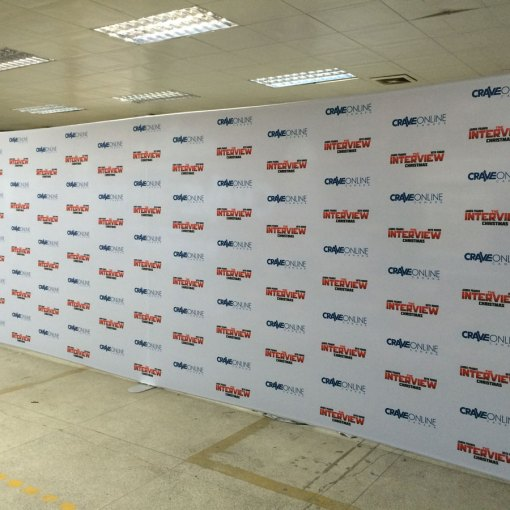 Step and Repeat 20 foot wall