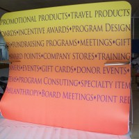 Wave line Fabric Trade show display