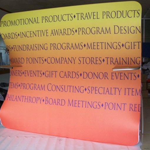 Wave line Fabric Trade show display