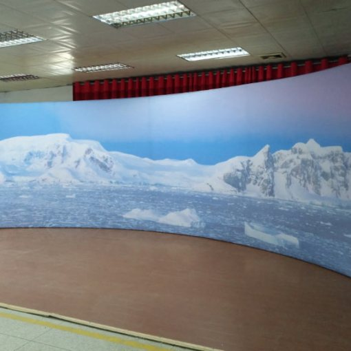 Curved customized backdrop
