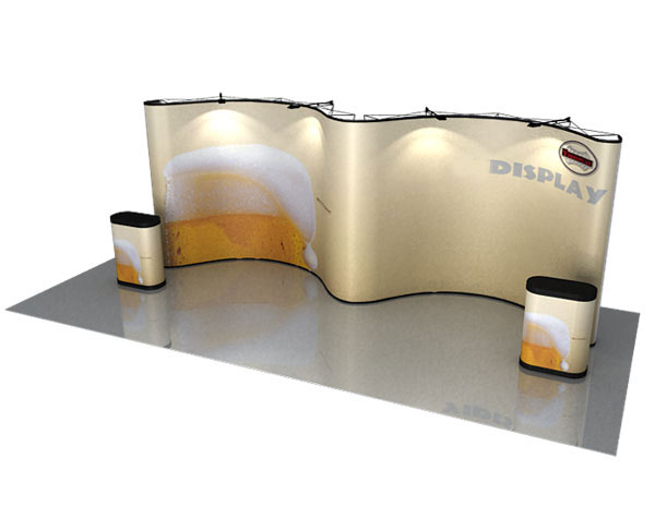 Wave Double Curve Magnetic Display