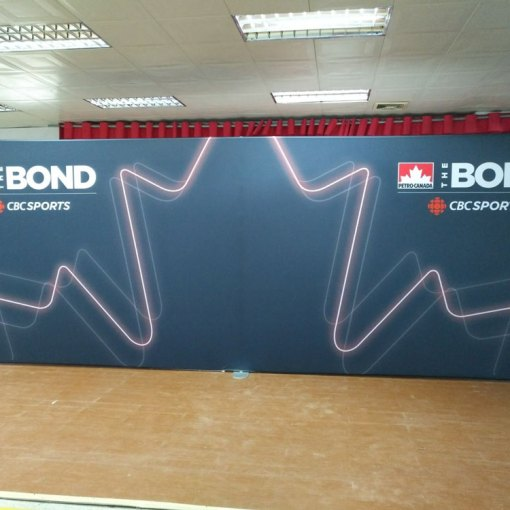 20 Foot Exhibition Display Backdrop shipped to Toronto