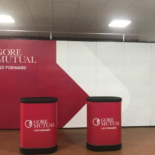 20 foot wide Magnetic Straight Pop up Display
