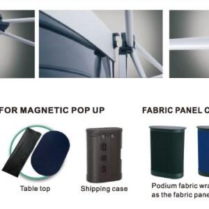 Fabric Magnetic displays